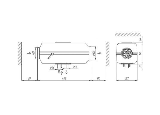 Die leistungsstarke Diesel-Luftstandheizung 4D DELUXE URAL EDITION von Autoterm Air ist optimal für größere Boote ab ca. 7,5 m geeignet.Leisstungsstufen sowie die Regelung der Temperaturen lassen sich mit der Heizung kinderleicht anpassen.Maximale Heizleistung: 4,0 kW. Spannung: 12 V. (Bild 15 von 16)