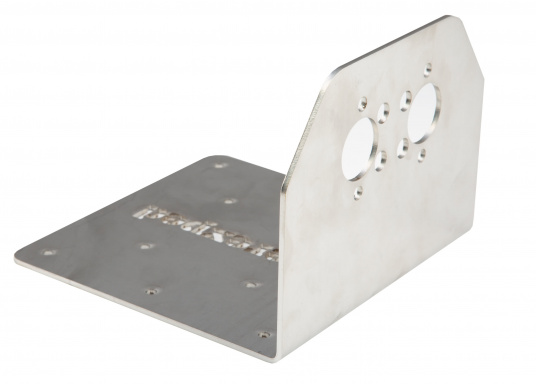 Robuste Halterung zur Montage einer Planar-Heizung an Wand oder Boden. Passend für die Luftheizungen 2D und 44D. Material: Edelstahl. Ausführung: 90° Winkel.