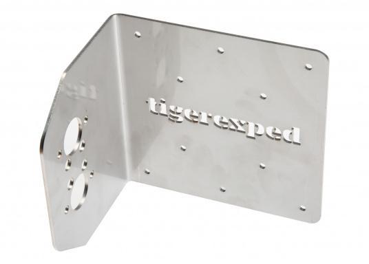 Robuste Halterung zur Montage einer Planar-Heizung an Wand oder Boden. Passend für die Luftheizungen 2D und 44D. Material: Edelstahl. Ausführung: 90° Winkel. (Bild 2 von 3)