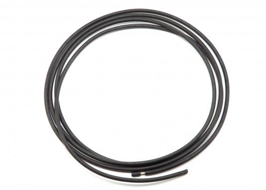 Hochspannungskabel für den isolierten Achterstag. Das Kabel ähnelt dem GTO-15 Kabel und ist bestens für SSB-Anwendungen geeignet. Kabelquerschnitt: 6 qmm. EUR/m.