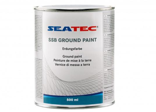 Die Erdung ist ebenso wichtig wie die Antenne selbst, da sie den Gegenpol der Antenne darstellt. Ohne Erdung sind gute Sende- und Empfangsergebnisse nicht zu erzielen. Während Stahl- und Aluyachten gute Erdungseigenschaften mitbringen, stellt die Erdung einer GFK-Yacht eine große Herausforderung dar, bei der die SSB Ground Paint Abhilfe verschafft. Die SSB Ground Paint ist eine versilberte Kupferfarbe, um den Leitwert hoch zu halten.