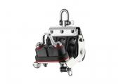 S Mainsheet Block with Swivel, Becket and Cleat / 8 mm / needle bearing