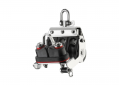 S Mainsheet Block with Swivel, Becket and Cleat / 8 mm / ball bearing