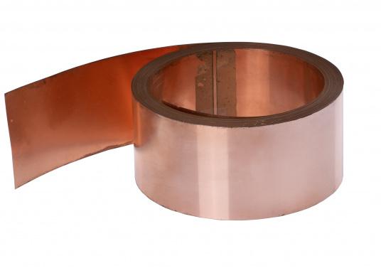 Das 60 mm breite Kupferband ist die Verbindungsleitung zwischen SSB Ground Plate oder Erdungsplatte und Antennentuner. Die Verbindungen zwischen Erdung und Tuner sollten möglichst kurz gehalten werden. Preis per Meter.