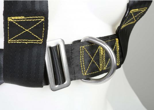 Für Ihre Sicherheit! Das Sicherheits-Lifebelt ist CE-geprüft (ISO 12401) und mit einem D-Ring zur Befestigung einer Sorgleine ausgestattet. Erhältlich in zwei Ausführungen: für Erwachsenen ab 50 kg und für Kinder von 20 - 50 kg.  (Bild 3 von 4)