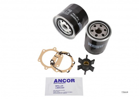 no boat should be without this engine spare part kit! it consists of an oil
