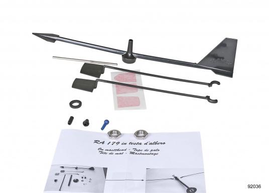 Dieser Windrichtungsanzeiger kann an Ihrer UKW-Antenne von GLOMEX angebracht werden. DIe Windfahnen-Länge beträgt: 300 mm. (Bild 2 von 3)
