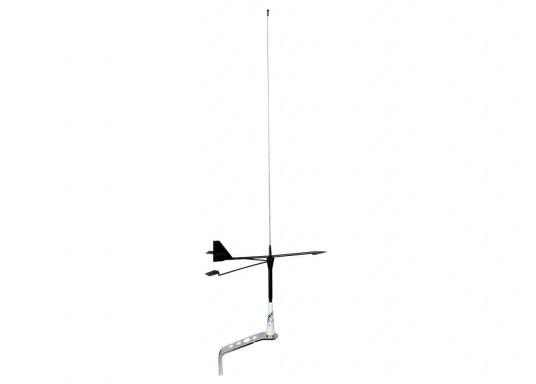 Dieser Windrichtungsanzeiger kann an Ihrer UKW-Antenne von GLOMEX angebracht werden. DIe Windfahnen-Länge beträgt: 300 mm. (Bild 3 von 3)