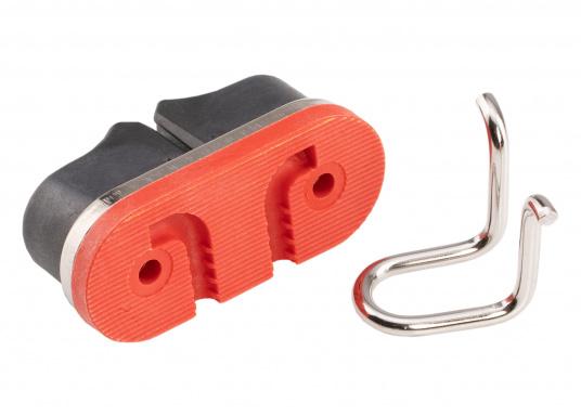 Die Gleitlager-Schotklemme von Sprenger wird komplett mit Grundplatte geliefert. Für Tauwerk mit dem Durchmesser: 8 - 13 mm. (Bild 3 von 4)