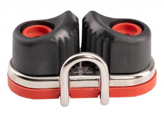 Die Gleitlager-Schotklemme von Sprenger wird komplett mit Grundplatte geliefert. Für Tauwerk mit dem Durchmesser: 8 - 13 mm. (Bild 2 von 4)