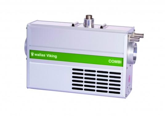Die Dieselheizung 30 VikingCombi von wallas ist nicht nur für warme Luft zuständig, sondern sorgt durch einen integrierten Wärmetauscher zusätzlich für heißes Wasser. Hergestellt für Motorboote mit Außenbordern, bei denen sich der Boiler nicht über den Kühlkreislauf des Motors erwärmen lässt. Leistung der Heizung: 950 - 2500 W.