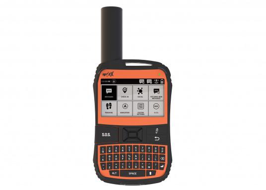 Mit dem 2-Wege Satelliten Messenger SPOT X können Sie mit Freunden und Angehörigen jederzeit in Kontakt bleiben, auch wenn Sie sich außerhalb des Bereichs eines Mobilfunknetzes befinden. Der SPOT X empfängt und sendet zuverlässig Nachrichten von/an Mobilfunktnummern und E-Mail-Adressen, kann einen Notruf an die rund um die Uhr verfügbare Rettungszentrale senden und verfügt über einen eingebauten Kompass. (Bild 2 von 3)