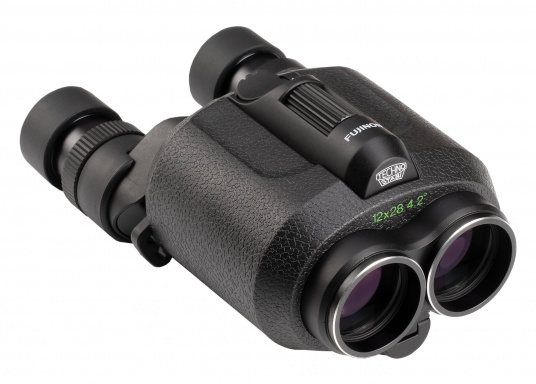Ergonomic, innovative and lightweight! The FUJINON Techno-Stabi 12x28 compact binoculars create a stabilised field of vision for an image that is sharp, high-contrast and bright. The resulting image enhancement ensures a solid and stable view from virtually all vehicles, whether on land, at sea or in the air.