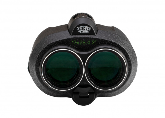 Ergonomic, innovative and lightweight! The FUJINON Techno-Stabi 12x28 compact binoculars create a stabilised field of vision for an image that is sharp, high-contrast and bright. The resulting image enhancement ensures a solid and stable view from virtually all vehicles, whether on land, at sea or in the air. (Imagen 2 of 9)