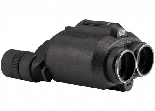 Ergonomic, innovative and lightweight! The FUJINON Techno-Stabi 12x28 compact binoculars create a stabilised field of vision for an image that is sharp, high-contrast and bright. The resulting image enhancement ensures a solid and stable view from virtually all vehicles, whether on land, at sea or in the air. (Imagen 7 of 9)