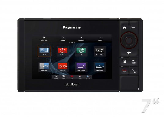 The Raymarine eS78 multifunction display features high-speed processors, a super-bright hybrid touch display and a variety of connectivity options. You have the freedom to choose between the best cartographies and the innovative multi-function knob ensures precise and easy navigation in all weather conditions. (Imagen 4 of 14)