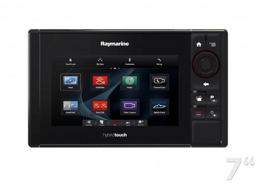 The Raymarine eS78 multifunction display features high-speed processors, a super-bright hybrid touch display and a variety of connectivity options. You have the freedom to choose between the best cartographies and the innovative multi-function knob ensures precise and easy navigation in all weather conditions. (Image 4 of 14)