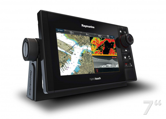 The Raymarine eS78 multifunction display features high-speed processors, a super-bright hybrid touch display and a variety of connectivity options. You have the freedom to choose between the best cartographies and the innovative multi-function knob ensures precise and easy navigation in all weather conditions.