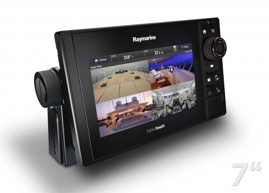 The Raymarine eS78 multifunction display features high-speed processors, a super-bright hybrid touch display and a variety of connectivity options. You have the freedom to choose between the best cartographies and the innovative multi-function knob ensures precise and easy navigation in all weather conditions. (Imagen 5 of 14)
