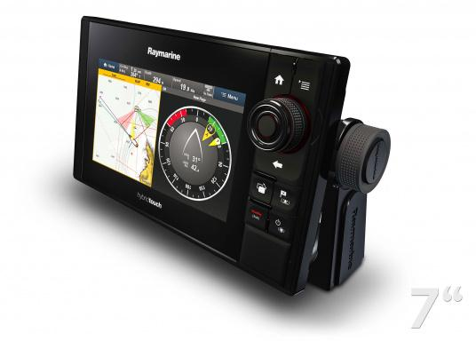 The Raymarine eS78 multifunction display features high-speed processors, a super-bright hybrid touch display and a variety of connectivity options. You have the freedom to choose between the best cartographies and the innovative multi-function knob ensures precise and easy navigation in all weather conditions. (Imagen 8 of 14)