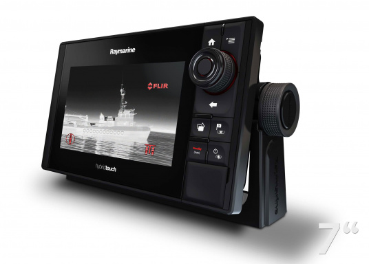 The Raymarine eS78 multifunction display features high-speed processors, a super-bright hybrid touch display and a variety of connectivity options. You have the freedom to choose between the best cartographies and the innovative multi-function knob ensures precise and easy navigation in all weather conditions. (Imagen 9 of 14)