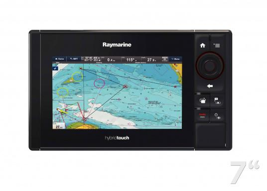 The Raymarine eS78 multifunction display features high-speed processors, a super-bright hybrid touch display and a variety of connectivity options. You have the freedom to choose between the best cartographies and the innovative multi-function knob ensures precise and easy navigation in all weather conditions. (Image 7 of 14)