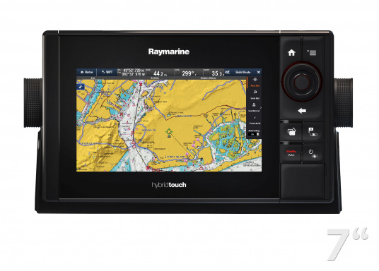 The Raymarine eS78 multifunction display features high-speed processors, a super-bright hybrid touch display and a variety of connectivity options. You have the freedom to choose between the best cartographies and the innovative multi-function knob ensures precise and easy navigation in all weather conditions. (Image 3 of 14)