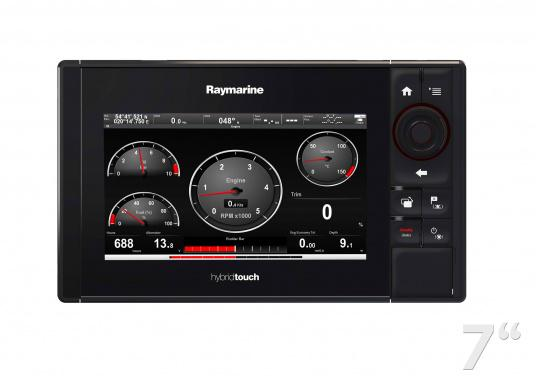 The Raymarine eS78 multifunction display features high-speed processors, a super-bright hybrid touch display and a variety of connectivity options. You have the freedom to choose between the best cartographies and the innovative multi-function knob ensures precise and easy navigation in all weather conditions. (Imagen 6 of 14)