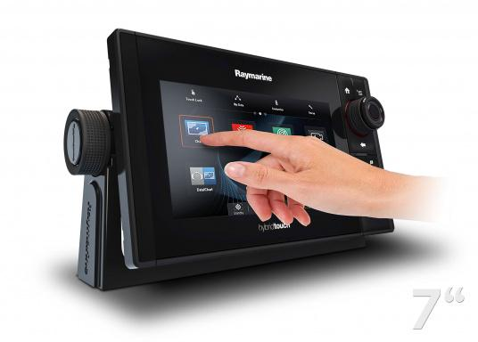 The Raymarine eS78 multifunction display features high-speed processors, a super-bright hybrid touch display and a variety of connectivity options. You have the freedom to choose between the best cartographies and the innovative multi-function knob ensures precise and easy navigation in all weather conditions. (Image 2 of 14)