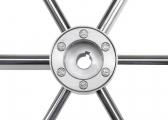 Stainless Steel Steering Wheel with Teakring / 1000 mm