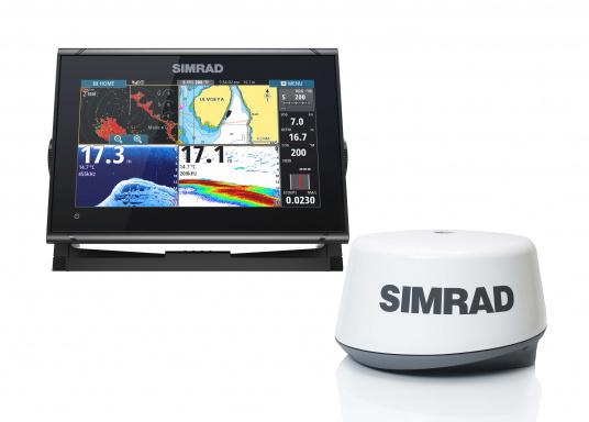 Das Simrad GO9 XSE Kartenplotter-Navigationsdisplay eignet sich optimal zur Funktionserweiterung auf Sportbooten, Kreuzfahrtschiffen und in kleineren Mittelkonsolen mit Plug-and-Play-Unterstützung für Simrad Broadband Radar™ und Halo™ Pulskompressions-Radarsystemen. Lieferung inklusive Broadband 3G Radarantenne und 20 m Kabel.
