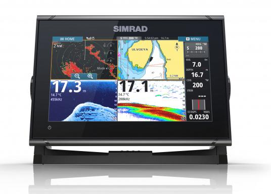 Das Simrad GO9 XSE Kartenplotter-Navigationsdisplay eignet sich optimal zur Funktionserweiterung auf Sportbooten, Kreuzfahrtschiffen und in kleineren Mittelkonsolen mit Plug-and-Play-Unterstützung für Simrad Broadband Radar™ und Halo™ Pulskompressions-Radarsystemen. Lieferung inklusive ForwardScan Geber. (Bild 2 von 9)