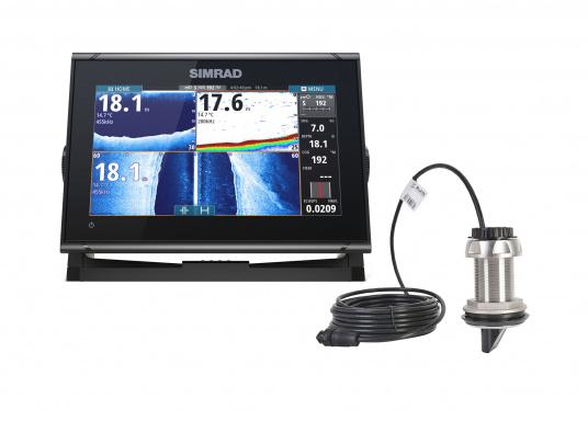 Das Simrad GO9 XSE Kartenplotter-Navigationsdisplay eignet sich optimal zur Funktionserweiterung auf Sportbooten, Kreuzfahrtschiffen und in kleineren Mittelkonsolen mit Plug-and-Play-Unterstützung für Simrad Broadband Radar™ und Halo™ Pulskompressions-Radarsystemen. Lieferung inklusive ForwardScan Geber.
