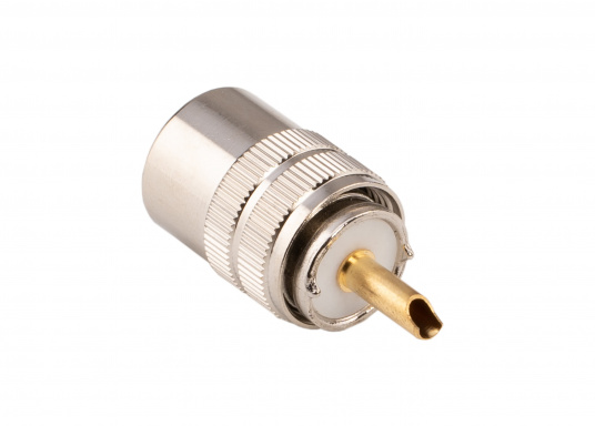 PL-Stecker für 6 mm RG58U Kabel.