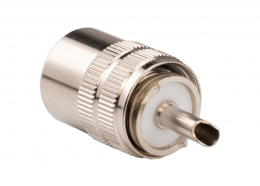 PL-Stecker für 10 mm RG213 Kabel.