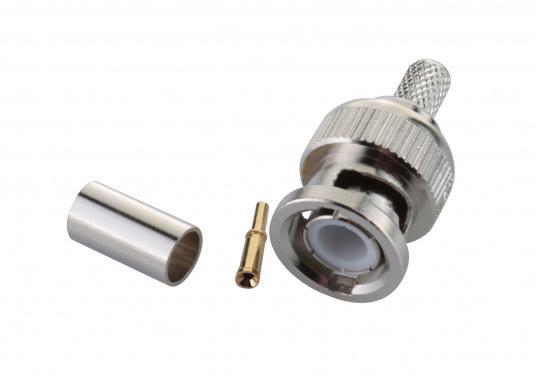 BNC Crimp-Stecker für 6 mm RG58 Kabel, 50 Ohm. (Bild 2 von 2)