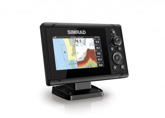 Wie für Angler geschaffen! Der Kartenplotter Cruise 5 von Simrad verfügt nicht nur über die Funktion der detaillierten Navigation, sondern zeigt Ihnen zusätzlich gestochen scharfe Bilder der Unterwasserwelt an.Dank der präzisen Tastensteuerung bedienen Sie die Simrad Cruise Serie auch bei Regen schnell und zuverlässig. (Bild 2 von 8)
