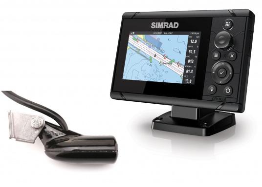 Wie für Angler geschaffen! Der Kartenplotter Cruise 5 von Simrad verfügt nicht nur über die Funktion der detaillierten Navigation, sondern zeigt Ihnen zusätzlich gestochen scharfe Bilder der Unterwasserwelt an.Dank der präzisen Tastensteuerung bedienen Sie die Simrad Cruise Serie auch bei Regen schnell und zuverlässig. (Bild 7 von 8)
