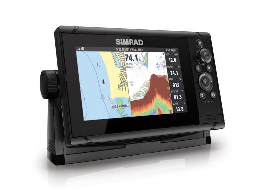 Wie für Angler geschaffen! Der Kartenplotter Cruise 7 von Simrad verfügt nicht nur über die Funktion der detaillierten Navigation, sondern zeigt Ihnen zusätzlich gestochen scharfe Bilder der Unterwasserwelt an. (Bild 2 von 7)