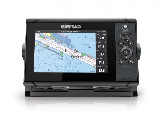 Wie für Angler geschaffen! Der Kartenplotter Cruise 7 von Simrad verfügt nicht nur über die Funktion der detaillierten Navigation, sondern zeigt Ihnen zusätzlich gestochen scharfe Bilder der Unterwasserwelt an.