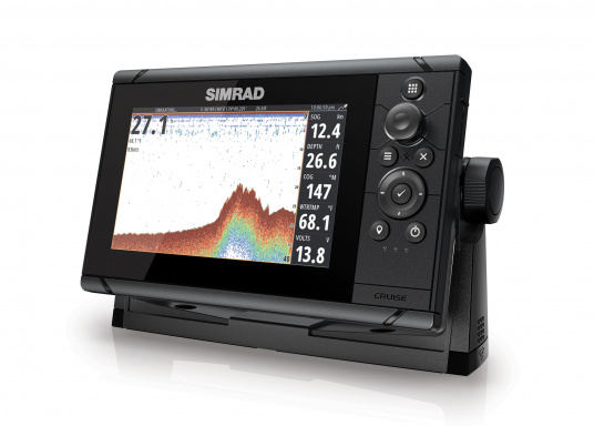 Wie für Angler geschaffen! Der Kartenplotter Cruise 7 von Simrad verfügt nicht nur über die Funktion der detaillierten Navigation, sondern zeigt Ihnen zusätzlich gestochen scharfe Bilder der Unterwasserwelt an. (Bild 4 von 7)