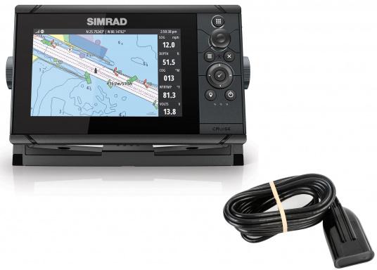 Wie für Angler geschaffen! Der Kartenplotter Cruise 7 von Simrad verfügt nicht nur über die Funktion der detaillierten Navigation, sondern zeigt Ihnen zusätzlich gestochen scharfe Bilder der Unterwasserwelt an. (Bild 6 von 7)