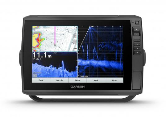 """Mit der neuen EchoMAP Ultra-Serie von Garmin erhalten Sie hochauflösende Darstellungen der unmittelbaren Unterwasserwelt in Kombination mit einem Kartenplotter. Der EchoMAP Ultra 102sv verfügt über ein wasserdichtes 10"""" Display und wird mit GT54UHD-TM-Geber geliefert. (Bild 2 von 14)"""