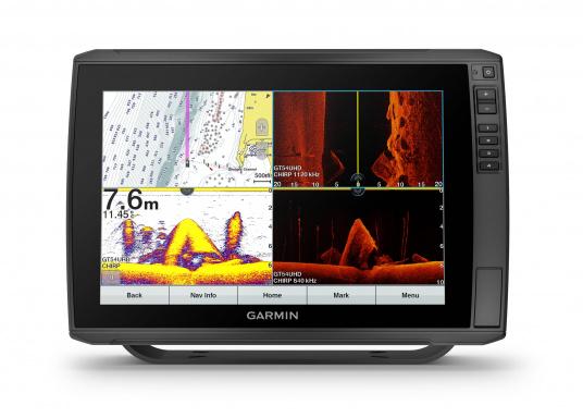 """Mit der neuen EchoMAP Ultra-Serie von Garmin erhalten Sie hochauflösende Darstellungen der unmittelbaren Unterwasserwelt in Kombination mit einem Kartenplotter. Der EchoMAP Ultra 122sv verfügt über ein wasserdichtes 12"""" Display und wird ohne Geber geliefert."""