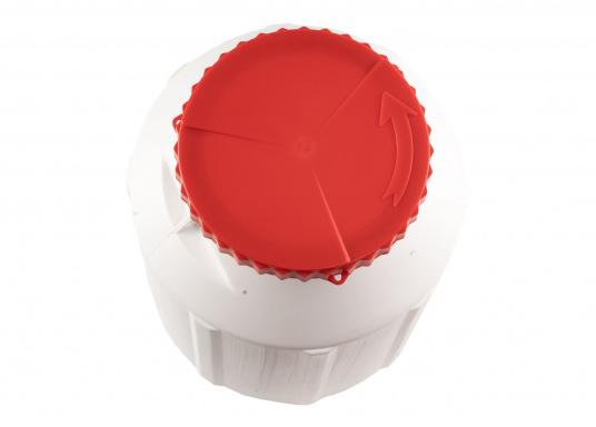 Verstauen Sie IhreNotpakete, Medikamente, Signalmittel etc. sicher in diese stabilen und wasserdicht verschließbaren Aufbewahrungsbehältern aus Kunststoff.Inhalt: 12 Liter. (Bild 2 von 4)