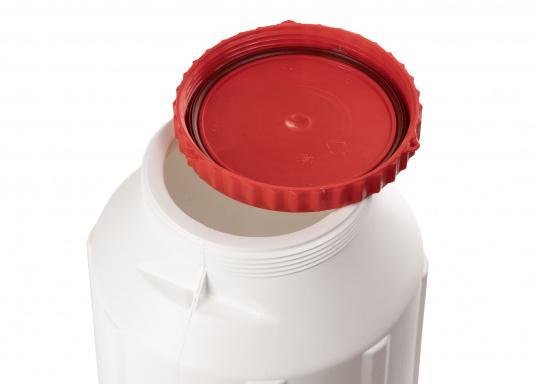 Verstauen Sie IhreNotpakete, Medikamente, Signalmittel etc. sicher in diese stabilen und wasserdicht verschließbaren Aufbewahrungsbehältern aus Kunststoff.Inhalt: 12 Liter. (Bild 3 von 4)