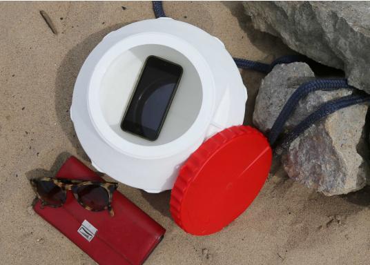 Verstauen Sie IhreNotpakete, Medikamente, Signalmittel etc. sicher in diese stabilen und wasserdicht verschließbaren Aufbewahrungsbehältern aus Kunststoff.Inhalt: 12 Liter. (Bild 4 von 4)