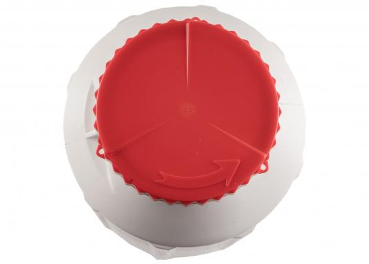 Verstauen Sie IhreNotpakete, Medikamente, Signalmittel etc. sicher in diese stabilen und wasserdicht verschließbaren Aufbewahrungsbehältern aus Kunststoff.Inhalt: 15 Liter. (Bild 3 von 5)