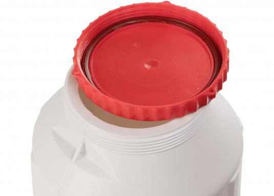 Verstauen Sie IhreNotpakete, Medikamente, Signalmittel etc. sicher in diese stabilen und wasserdicht verschließbaren Aufbewahrungsbehältern aus Kunststoff.Inhalt: 15 Liter. (Bild 4 von 5)