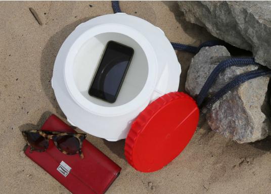 Verstauen Sie IhreNotpakete, Medikamente, Signalmittel etc. sicher in diese stabilen und wasserdicht verschließbaren Aufbewahrungsbehältern aus Kunststoff.Inhalt: 15 Liter. (Bild 5 von 5)